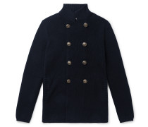 Double-Breasted Cotton Cardigan