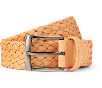 3.5cm Beige Leather Belt