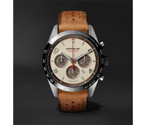 Timewalker Limited Edition Chronograph 43mm Stainless Steel, Ceramic And Leather Watch