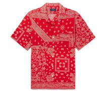 Printed Linen, Cotton And Silk-blend Shirt