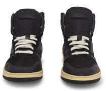 Rhecess Suede and Leather High-Top Sneakers