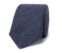 Prince of Wales Checked Silk and Wool-Blend Tie
