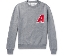Logo-appliquéd Fleece-back Cotton-jersey Sweatshirt - Gray