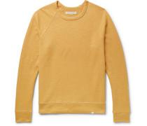 Loopback Hemp And Cotton-blend Jersey Sweatshirt - Mustard