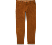 Tapered Stretch-cotton Corduroy Trousers