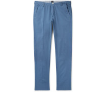 Tapered Stretch-Cotton Twill Trousers