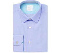 Blue Soho Slim-fit End-on-end Cotton Shirt