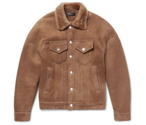 Shearling Trucker Jacket - Tan
