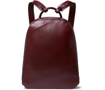 My Logo Leather Backpack - Burgundy