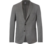 Grey Noswen Slim-fit Virgin Wool Blazer - Gray