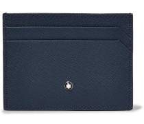 Sartorial Cross-grain Leather Billfold Wallet - Blue