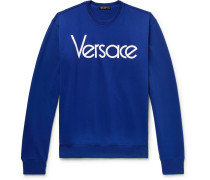 Logo-embroidered Loopback Cotton-jersey Sweatshirt