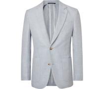 Light-blue Spirit Wool And Linen-blend Blazer - Blue