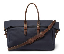 Cabine Leather-Trimmed Canvas Holdall
