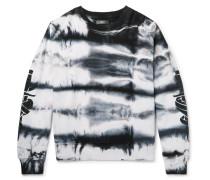 Embellished Tie-dyed Fleece-back Cotton-jersey Sweatshirt