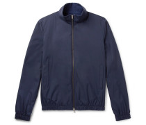 Reversible Storm System Shell And Cashmere Bomber Jacket - Blue