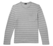 Duofold Striped Cotton-Jersey T-Shirt