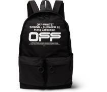 Logo-Print Shell Backpack