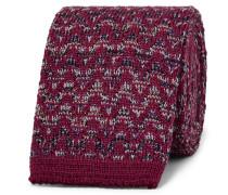 6cm Crochet-knit Wool And Silk-blend Tie