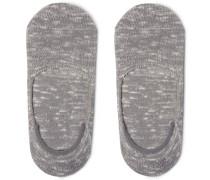 Dweller Ribbed Cotton-blend No-show Socks