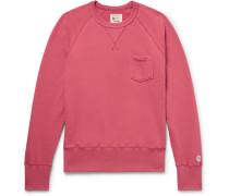 Slim-fit Loopback Cotton-jersey Sweatshirt - Red