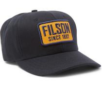 Logo-appliquéd Cotton-twill Baseball Cap - Navy