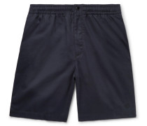 Smith Cotton-twill Drawstring Shorts - Midnight blue