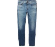 Slim-fit 15cm Hem Stretch-denim Jeans