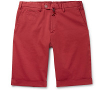 Cotton-blend Twill Bermuda Shorts - Red