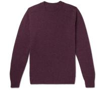 Shetland Wool Sweater - Purple