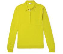 Curtis Merino Wool Half-zip Sweater - Yellow