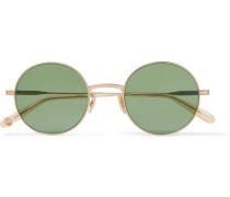 Seville 48 Round-frame Gold-tone Sunglasses - Gold