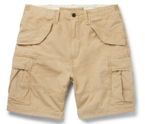 Washed Cotton-ripstop Cargo Shorts - Beige