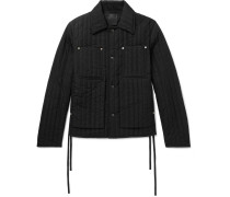 Quilted Shell Jacket - Black
