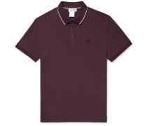 Contrast-trimmed Stretch-cotton Piqué Polo Shirt