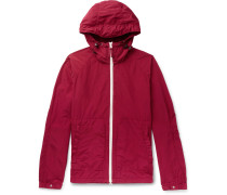 Garment-dyed Shell Hooded Jacket - Red