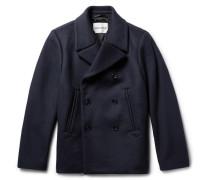 Felix Virgin Wool-blend Peacoat - Midnight blue