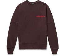 Oversized Logo-embroidered Loopback Cotton-jersey Sweatshirt - Burgundy