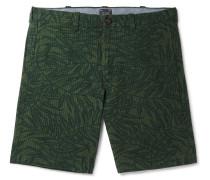 Printed Cotton-seersucker Shorts