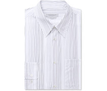 Blue Reyes Striped Cotton-poplin Shirt - Blue