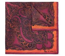 Paisley-print Silk-twill Pocket Square - Purple