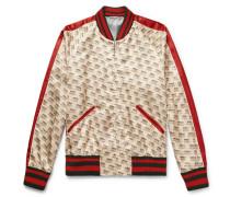 Logo-print Satin Bomber Jacket