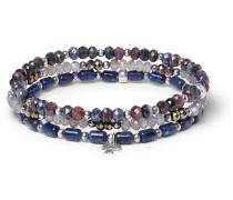 Multi-stone And Sterling Silver Bracelet - Blue