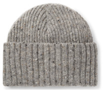 Ribbed Donegal Merino Wool Beanie