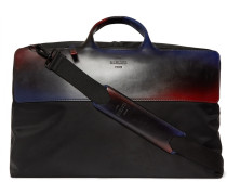 Cube Shell And Leather Holdall - Black