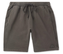 Loopback Cotton-jersey Shorts - Gray