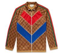 Oversized Webbing-trimmed Logo-print Tech-jersey Track Jacket