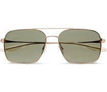 Volair Aviator-style Gold-tone Sunglasses