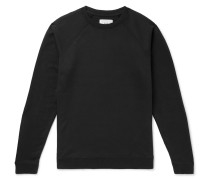 Rivet Loopback Cotton-jersey Sweatshirt - Black