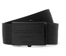 3cm Black Webbing Belt - Black